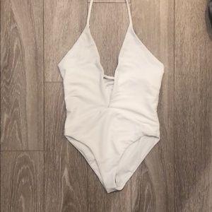 Frankie's Bikinis Lily white onepiece (never worn)